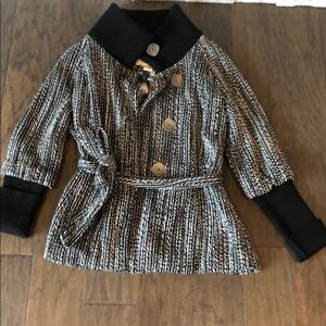 BKE black and white button jacket